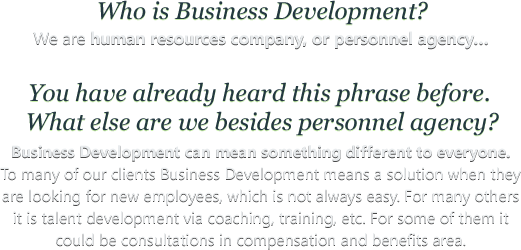 Who is Business Development